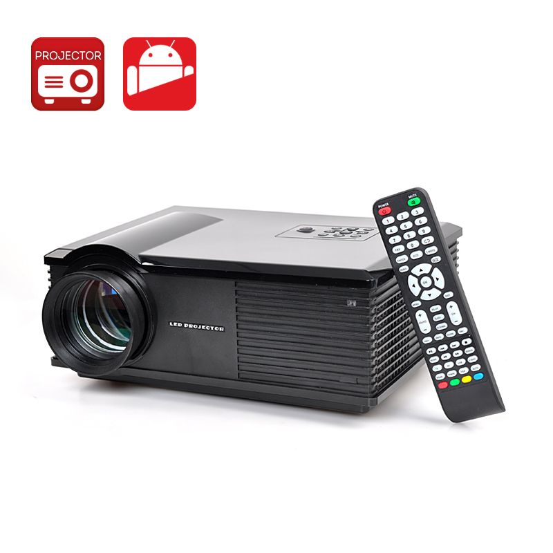 Dual Core LED Projector - Android 4.4 OS, 3200 Lumens, 1.4GHz Dual Core CPU, 1GB RAM, Wi-Fi Support