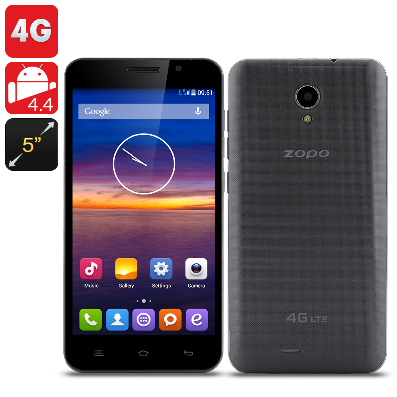 ZOPO ZP320 Smartphone - 5 Inch QHD 960x540 Screen, 4G, Android 4.4 OS, 8GB Internal Memory (Black)