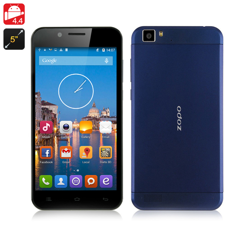 ZOPO ZP1000 Octa Core Phone - Android 4.4 OS, 5 Inch HD 1280x720 Screen, MTK6592 1.7GHz CPU, 16GB ROM, 14MP Camera, 3G