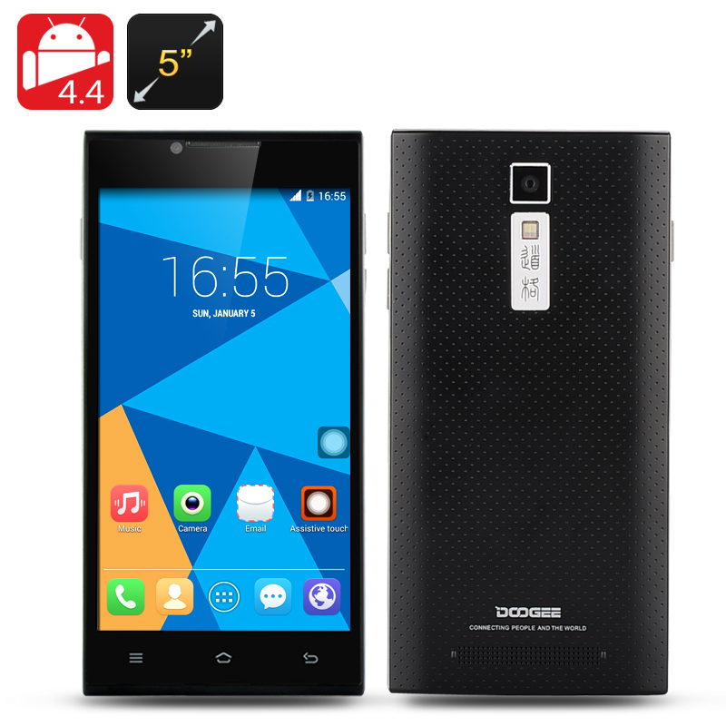 DOOGEE TURBO DG2014 Phone - MTK6582 Quad Core 1.3GHz CPU, 5 Inch IPS OGS 1280x720 Display, Android 4.4 OS