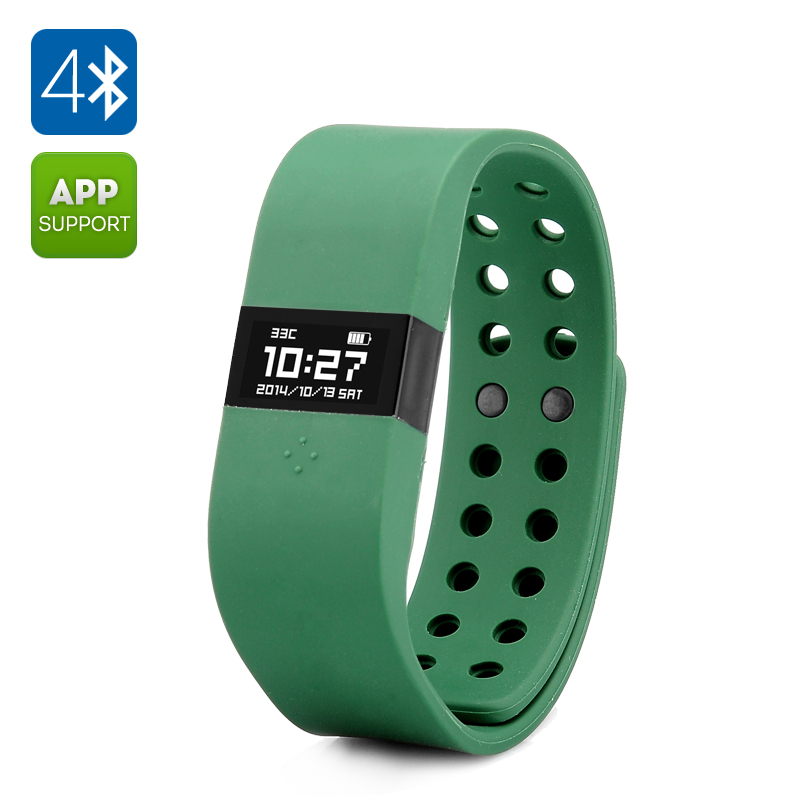 DIGICare ERI Smart Bracelet - 0.49 Inch OLED Touch Screen, Bluetooth 4.0, Activity Tracker, Sleep Monitor (Army Green)