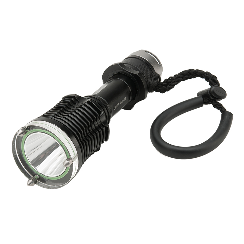CREE XM-L T6 LED Diving Flashlight - IPX7, 1200 Lumens, 5 Light modes, Emergency Hammer + Cutter