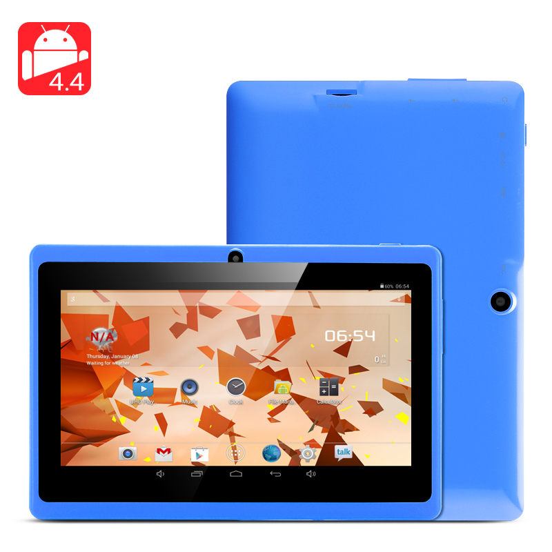 7 Inch Android 4.4 Tablet 'Horus 4GB' - Allwinner A23 Dual Core CPU, 4GB Internal Memory, 2x Cameras OTG Support (Blue)