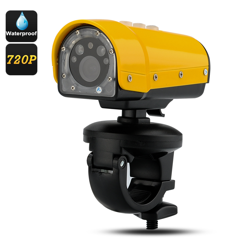 Waterproof Sports Camera 'Cichlid II' - 1280x720 Resolution, 120 Degree Wide Angle Lens, SOS Light, Positioning Laser Light