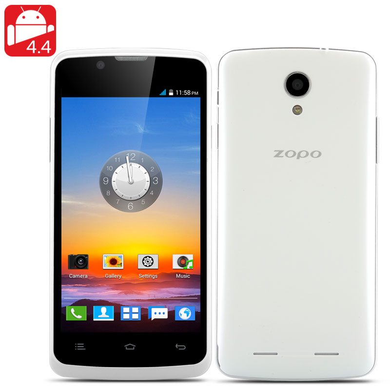 ZOPO ZP590 Phone - 4.5 Inch 960x540 Capacitive Screen, MTK6582M Quad Core CPU, 4GB Internal Memory, Android 4.4 OS, 3G (White)