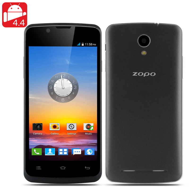 ZOPO ZP590 Android 4.4 Phone - 4.5 Inch 960x540 Capacitive Screen, MTK6582M Quad Core CPU, 4GB Internal Memory, 3G (Black)