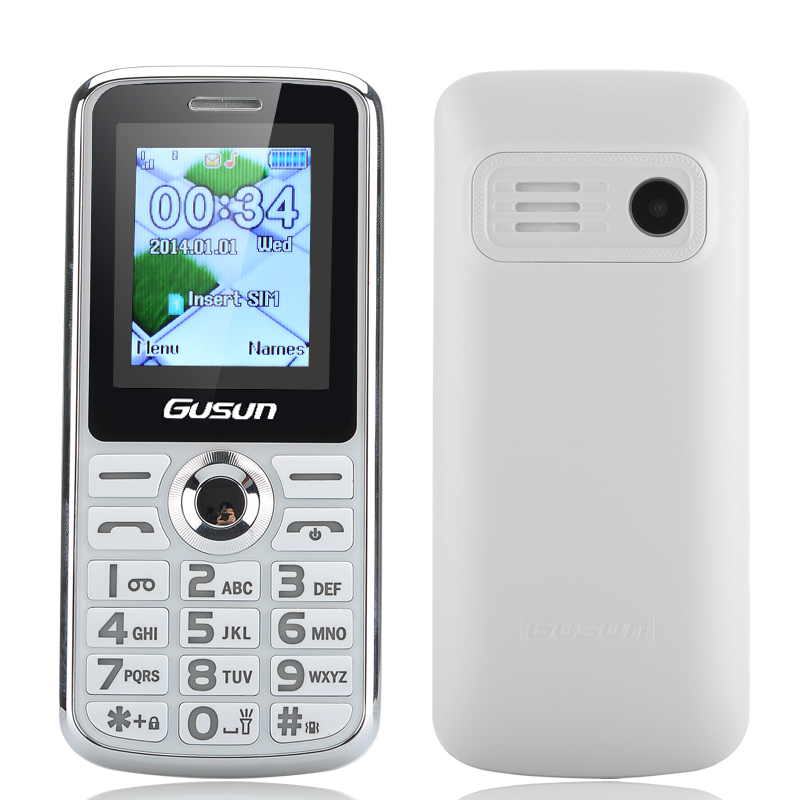 GUSUN F7 Senior Citizen Phone - 1.8 Inch Display, Dual SIM Quad Band Support, With Camera, FM, LED Torch (White)