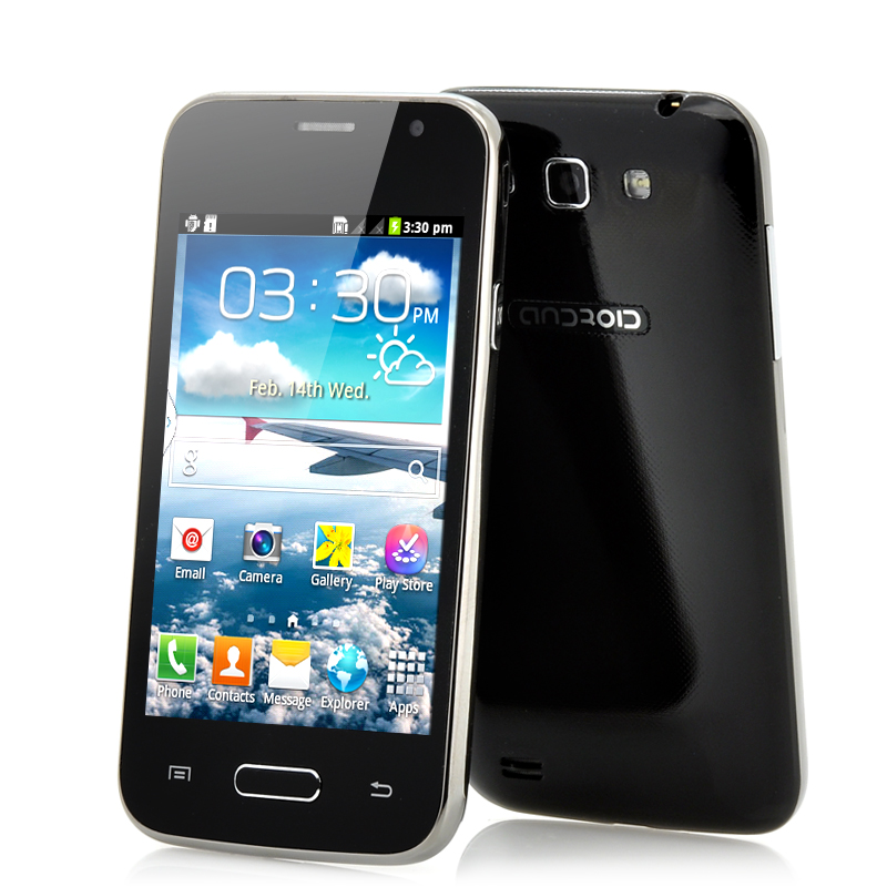 4 Inch Low Cost Android Phone 'Fly' - Front and Back Camera, Dual SIM, Bluetooth, WiFi (Black)