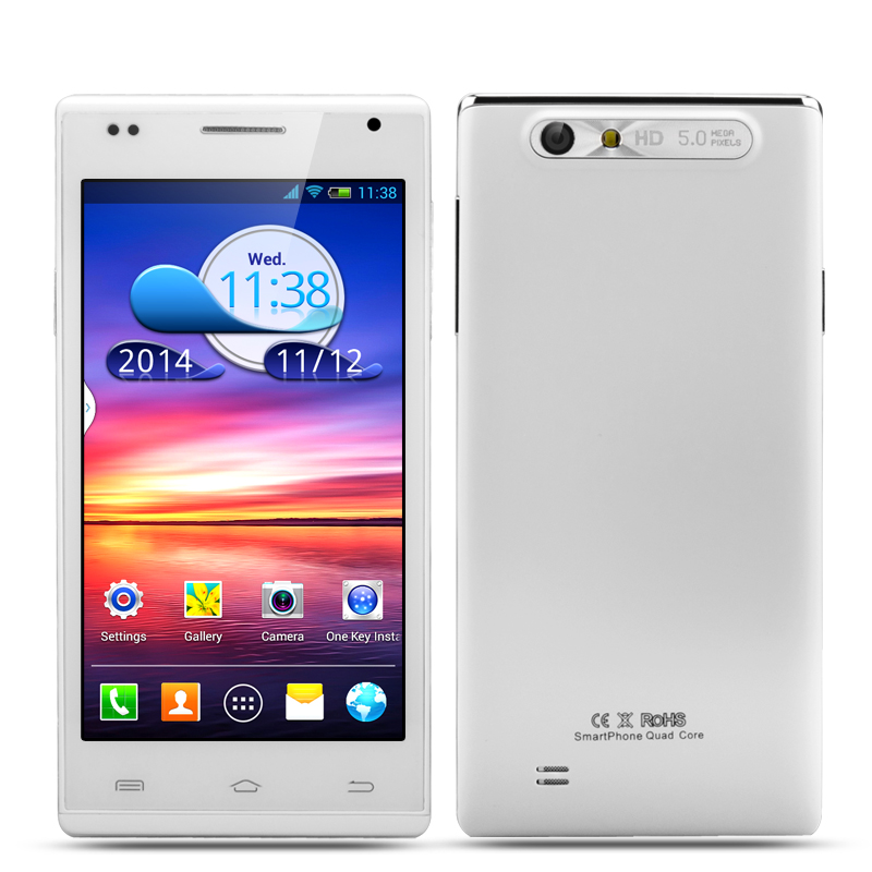 4.5 Inch Android 4.2 Smartphone 'Tutuila' - 960x540 IPS Display, 1.3 GHz Dual Core CPU, 5 Megapixel Rear Camera (White)