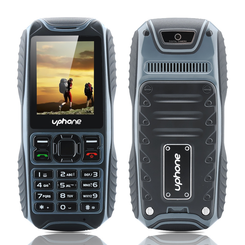 Uphone U3A IP67 Rugged Phone - Dust Proof, Waterproof, Shockproof, Dual SIM, Micro SD Card Slot, Rear Camera, FM Radio (Black)