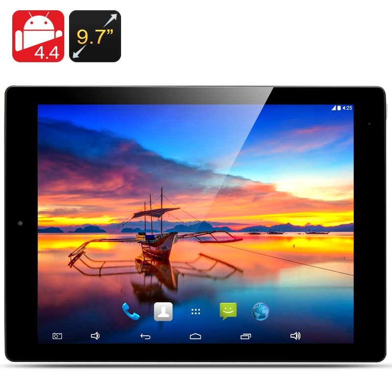 9.7 Inch E-Ceros Revolution 2 Tablet PC - RK3288 Quad Core CPU, 2GB RAM, 32GB Internal Memory, 2048x1576 Retina Screen (Black)
