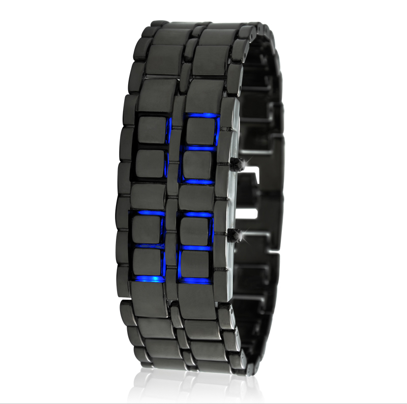 Japanese Style Inspired Blue LED Watch 'Ice Samurai'