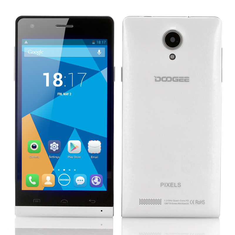 DOOGEE PIXELS DG350 Quad Core Phone - 4.7 Inch 720p IPS Capacitive Screen, 8MP Rear/2MP Front Camera, Android 4.2 OS (White)