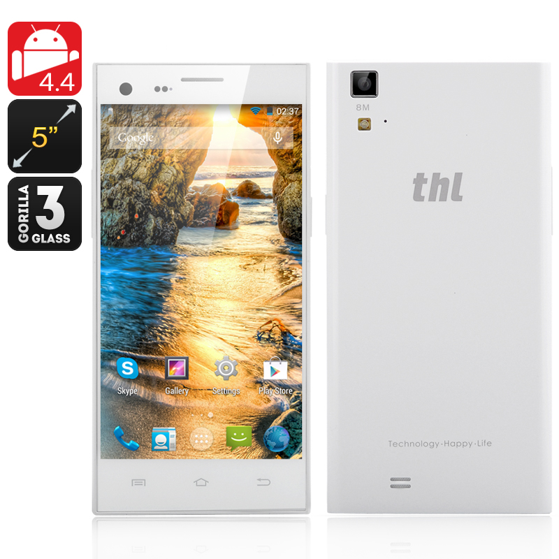 ThL T11 Octa Core Smartphone - 5.0 inch 720p Display, MTK6592 Octa Core CPU, 2GB RAM, 16GB memory, Front + Rear Camera (White)