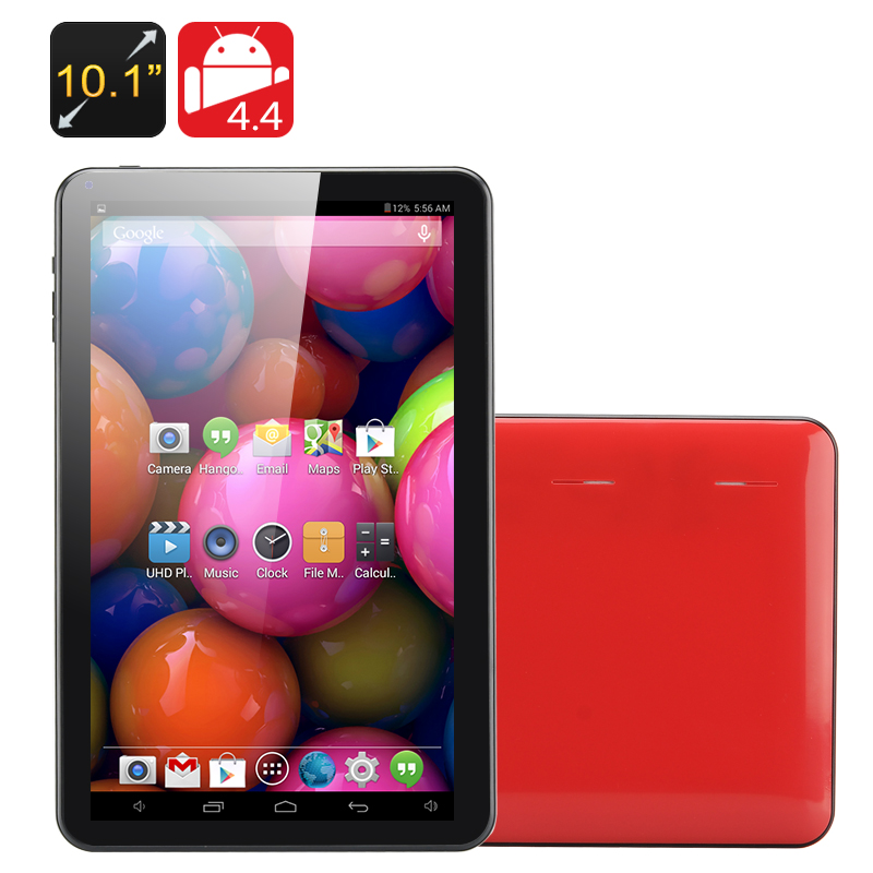 10.1 Inch Quad Core Tablet PC 'Kappa' - All Winner A33 CPU, Mali 400 GPU, 1GB RAM, 8GB Memory, OTG (Red)