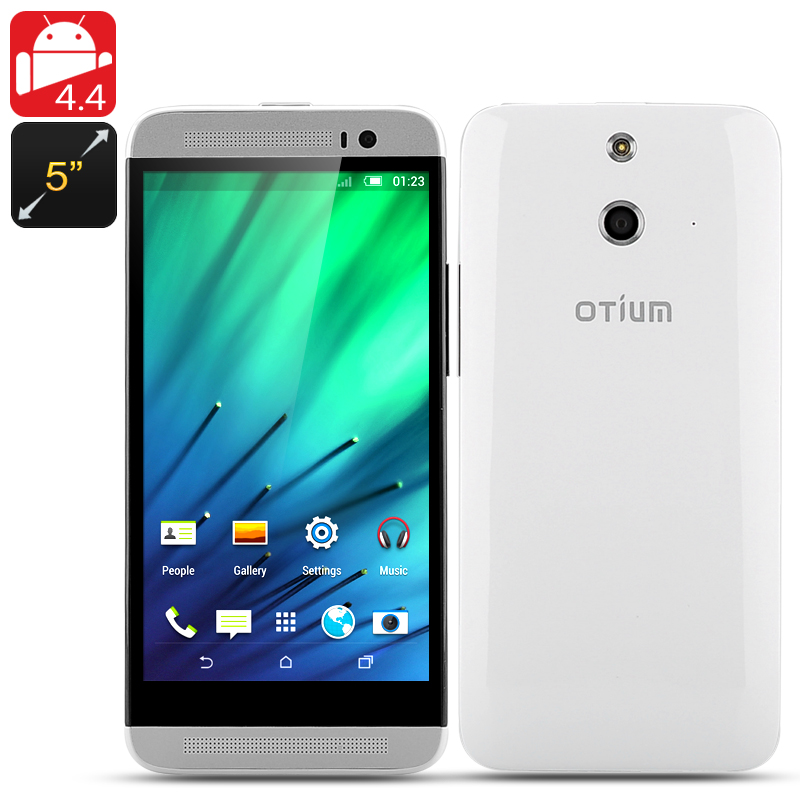 Otium E8 Quad Core Phone - 1.3GHz CPU, 1GB RAM, 5 Inch IPS Screen, 8GB Internal Memory, 3G, Android 4.4