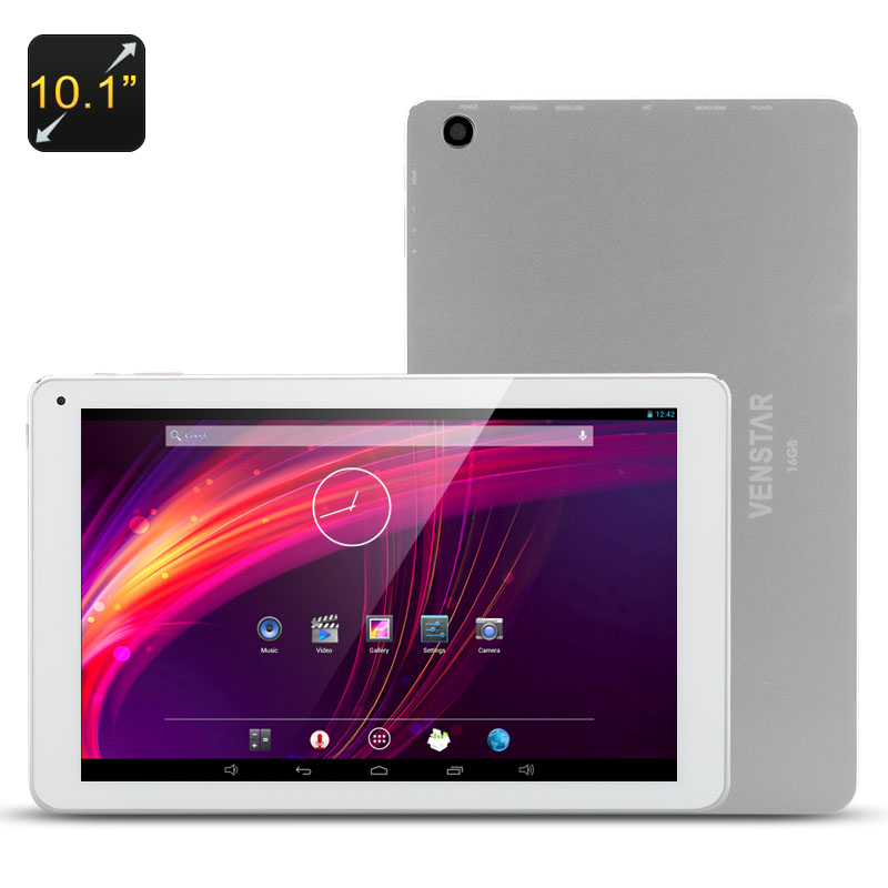 Venstar ACE10 10.1 Inch Tablet - Android 4.2 OS, RK3188 Quad Core CPU, 2GB RAM, 16GB Internal Memory, IPS Screen