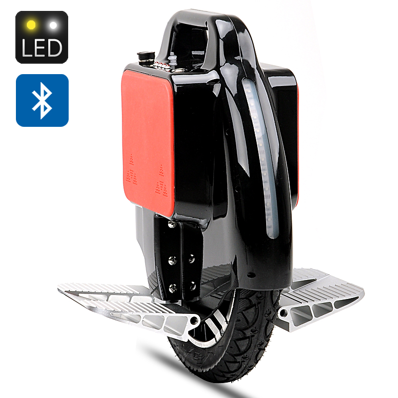 Electric Unicycle 'Uni-Wheel XR-3' - Samsung Lithium Battery, Up To 18km/h, Bluetooth Speaker, Front + Rear RGB LED Lights