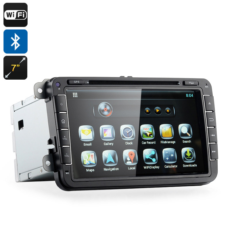 2 DIN Android Car DVD Player 'Road Elite III' - For Volkswagen Vehicles, 8GB Internal Memory, 3G, Wi-Fi Dongle, GPS