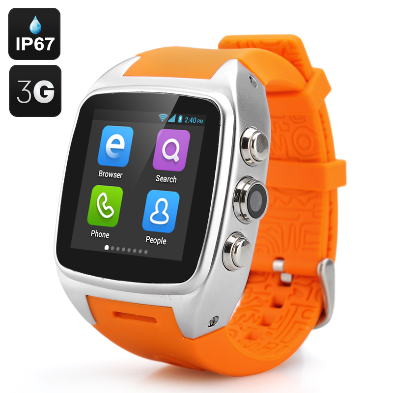 iMacwear M7 Android Smart Watch Phone - IP67 Waterproof Rating, 1.54 Inch IPS Capacitive Screen, Dual Core CPU (Silver)