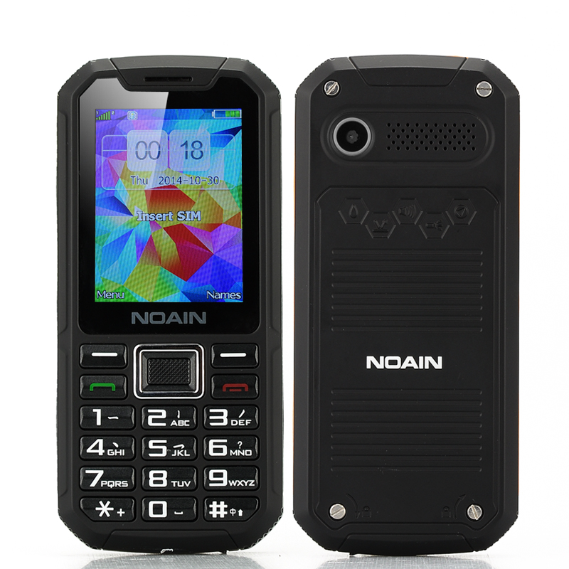 NOAIN 007 Rugged Phone - IP67 Waterproof + Dust Proof Rating, Shockproof, 2.4 Inch Display, 2x SIM Card Support (Black)