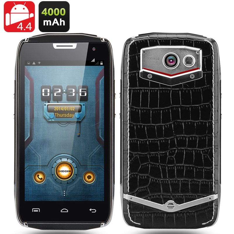DOOGEE Titans 2 DG700 Rugged Smartphone - Quad Core 1.3GHz CPU, 8GB Memory, 4.5 Inch 960x540 IPS OGS Screen, OTG, Smart Button