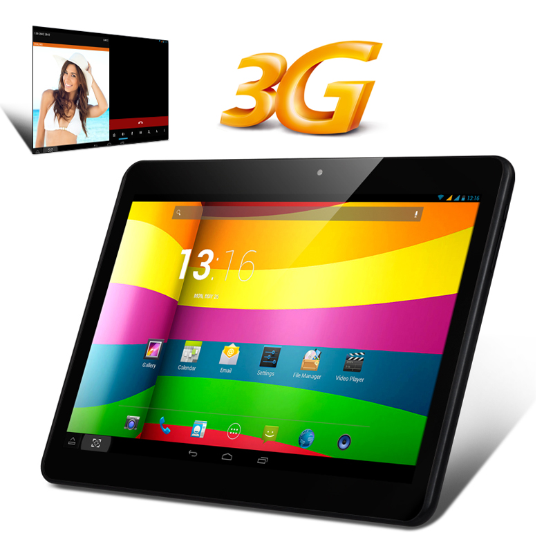 10.1 Inch IPS 3G Quad Core Tablet PC - MTK8382 CPU, 1GB RAM, Android 4.2 OS, 2x SIM Card Slots (Black)