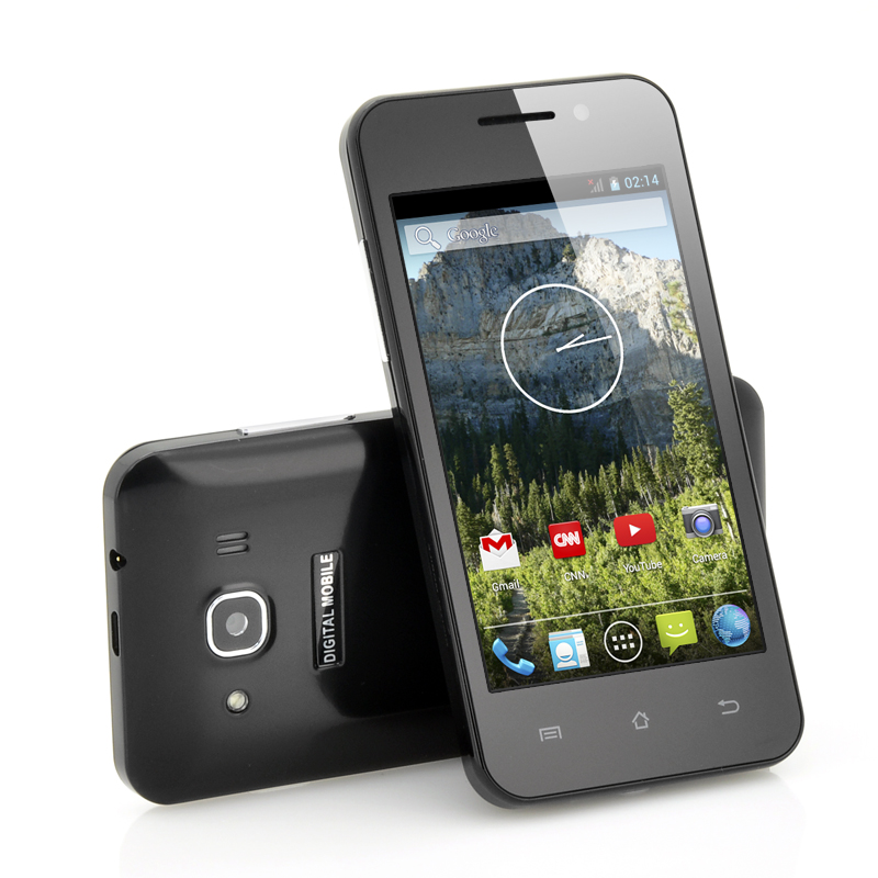 4 Inch IPS Screen Budget Phone 'Echo' - Android 4.2 OS, Dual Core CPU (Black)
