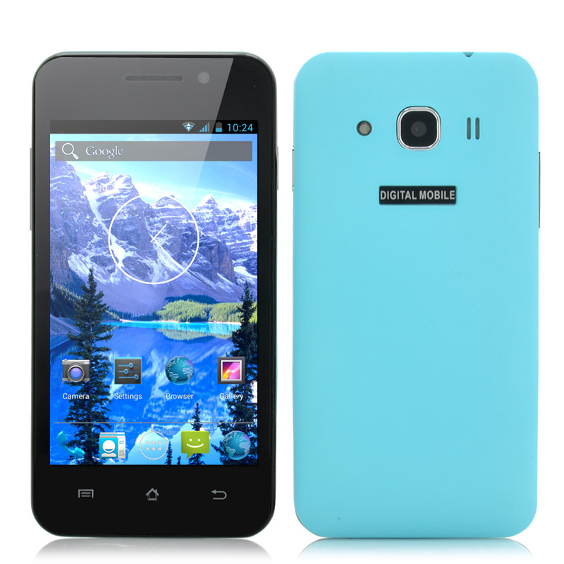 Budget 4 Inch Android Phone 'Bravo' - IPS Display, 1.3GHz Dual Core CPU, 3G, Dual Camera (Blue)