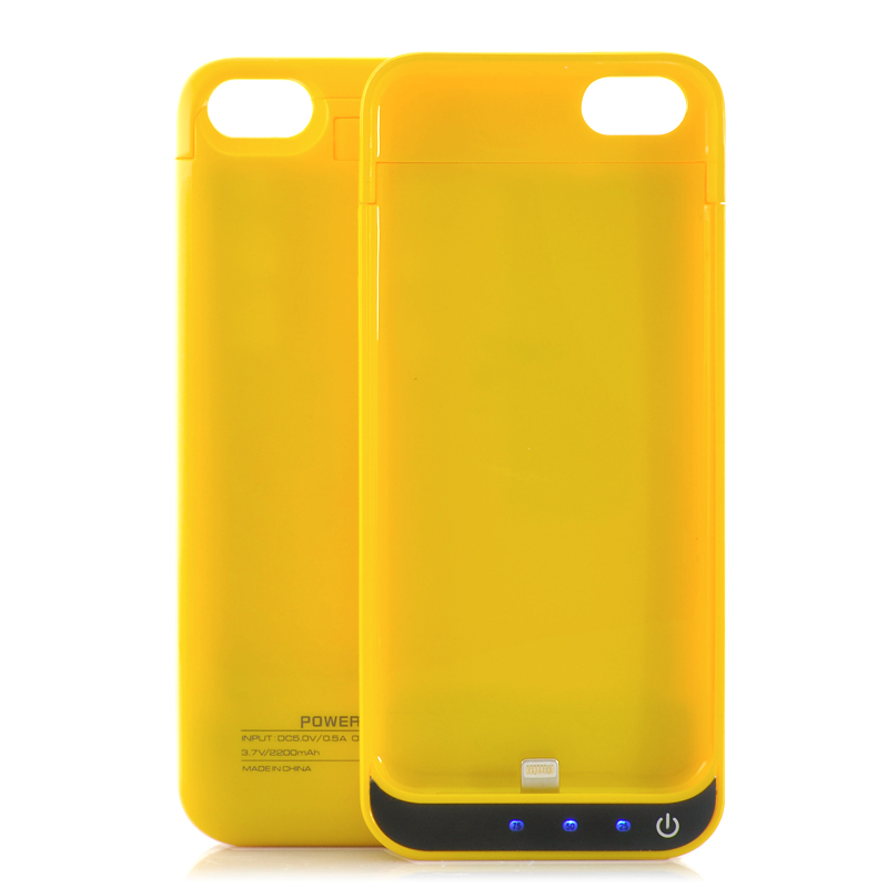 2200mAh External Battery Case - For iPhone 5/5C/5S (Orange)