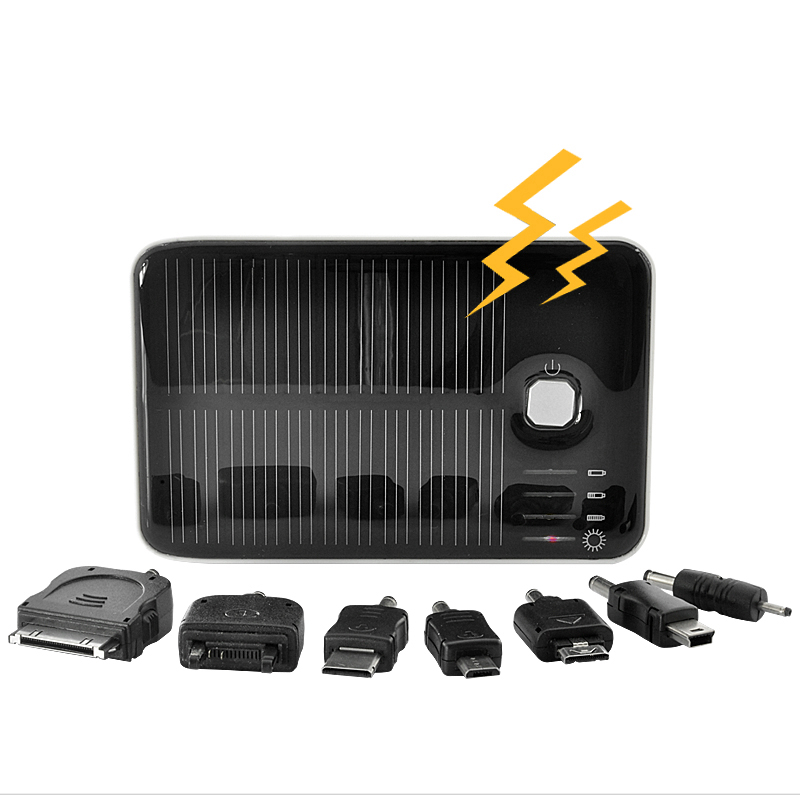 Solar Charger and Battery - Dual Charging Ports for iPod, iPhone, iPad, Samsung, HTC, Sony Ericsson and More (5000mAh)