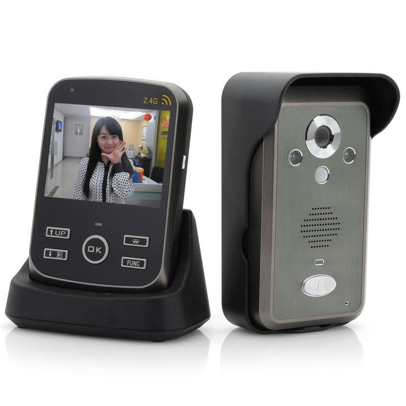 Wireless Video Door Phone 'SafeGuard' - PIR Motion Detection, 3.5 Inch Monitor, 300m Range, Photo and Video Function