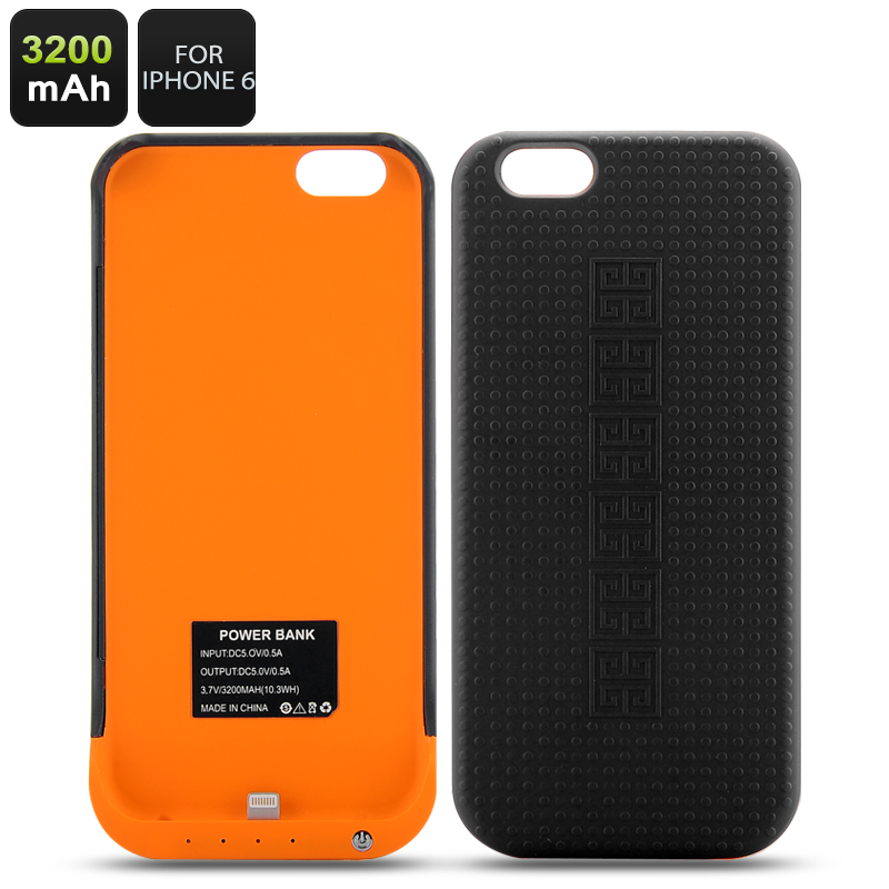 Protective Case + Power Pack For iPhone6 - 3200mAh Power Bank, 4LED Indication Lights,