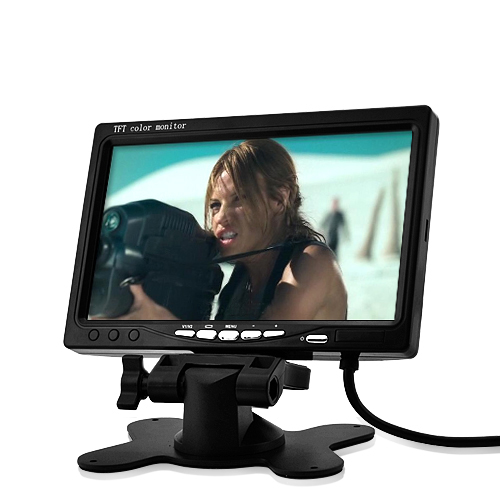 7 Inch LCD Monitor - In-Car Headrest / Stand