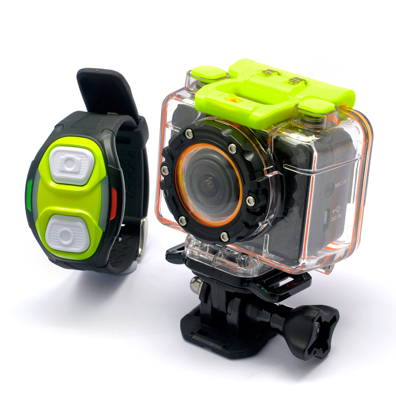 Full HD Sports Action Camera 'Helix' - 1080p Video, Wi-Fi, Wrist Strap Remote, Wide Angle Lens