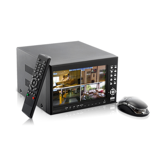 4 Channel DVR System - H264 DVR, 7 Inch Screen, 2x SATA HDD