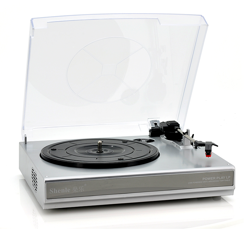 Vinyl to Mp3 Record Player - Built-In Dual Stereo Speakers, RCA Output, 33/45 RPM