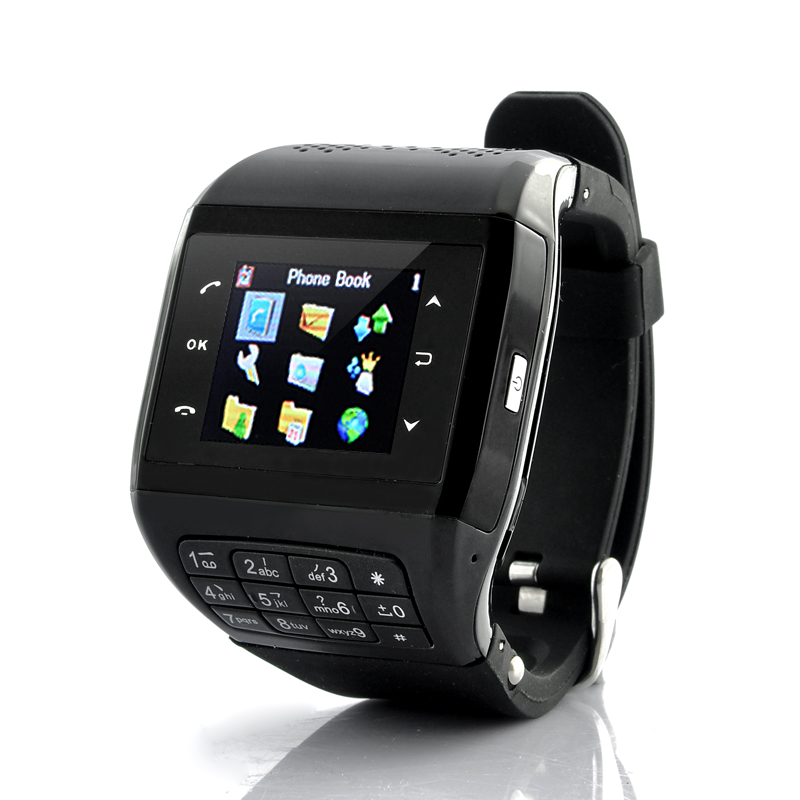 Mobile Phone Watch 'Panther' - Quad Band GSM, Touchscreen, Keypad