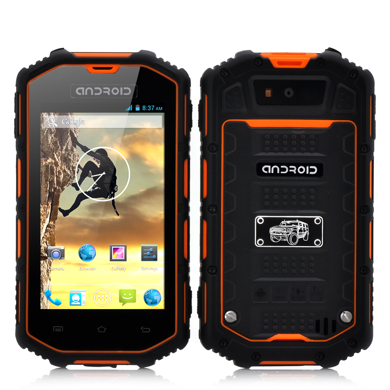 Rugged Android Phone - Dual Core CPU, Waterproof, Shockproof, Dust Proof (Orange)