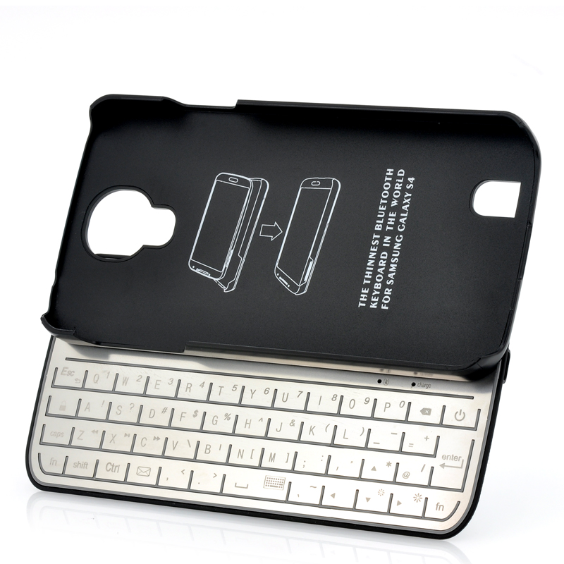 Bluetooth Keyboard Case For Galaxy S4 - Detachable, Ultra Slim