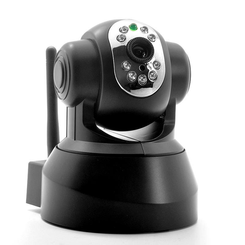 Budget Plug and Play IP Camera 'Securas' - 1/4 Inch CMOS, 10m Nightvision, Pan + Tilt, Motion Detection