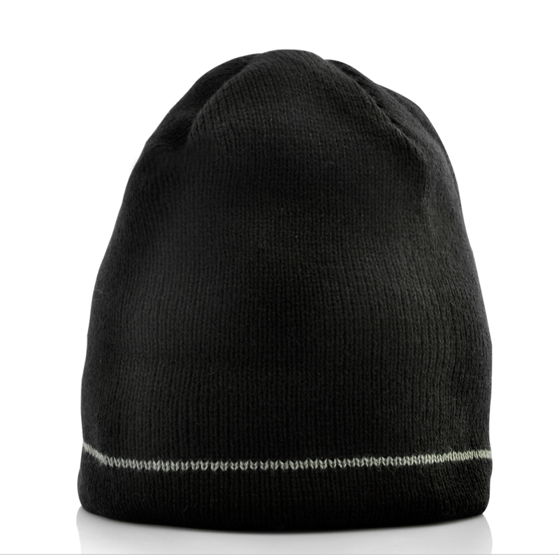 Beanie Hat with Built-in Headphones (Black)