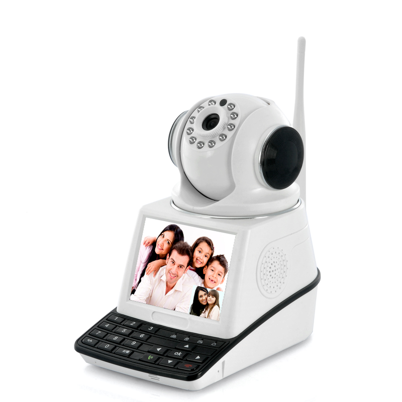 Network Video Camera - 3.5 inch Display, 0.3 Megapixel CMOS, Plug + Play