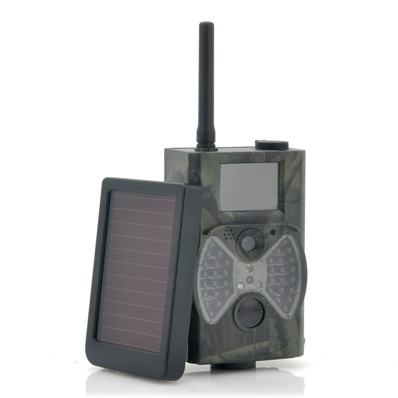 Game Hunting Camera With Solar Panel 'Solar-Shot' - 1440x1080, PIR Motion Detection, Night Vision, MMS Viewing