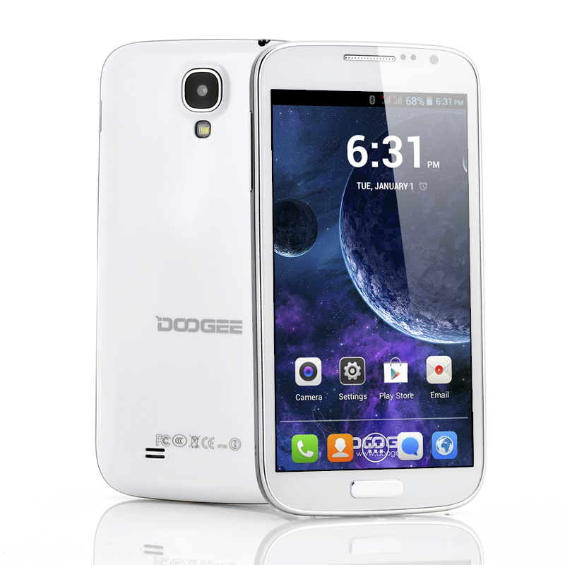 DOOGEE Voyager DG300 5 Inch Android 4.2 Phone - 960x540 QHD IPS Screen, 1.3GHz Dual Core CPU (White)