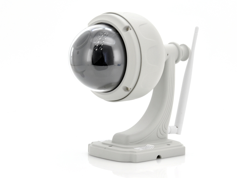 Dome Infrared IP Camera - Motion Detection, Night Vision, Mobile Phone Support, Micro SD Recording