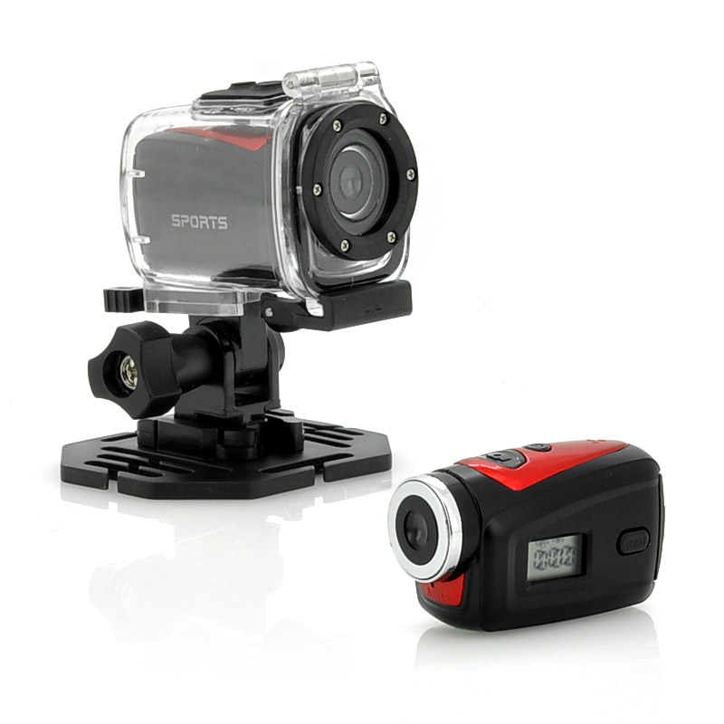Mini Sports Camera 'Nanocam' - 720p HD, 30m Waterproof Case, Wide Angle Lens
