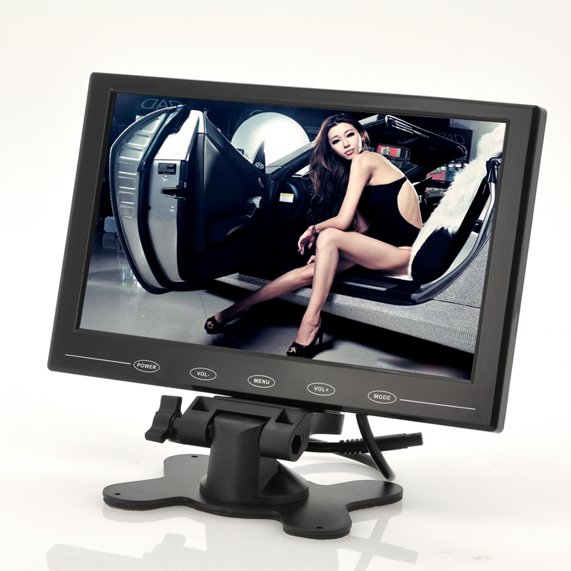9 Inch TFT LCD Monitor - In-Car Headrest/Stand, Ultra-Thin Design, 800x480 Resolution