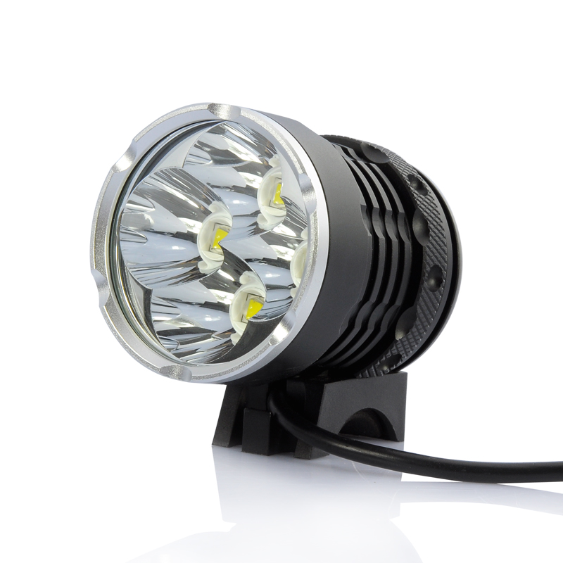 Bicycle LED Lamp + Headlight - 4 x Cree XM-L T6, 2800 Lumens, White Light