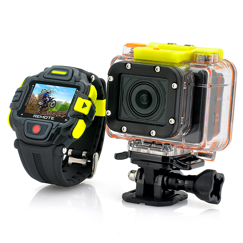 Full HD Action Camera 'Eyeshot' with Wi-Fi and Watch Remote Control - 1920x1080p, Panasonic Sensor, Ultra Wide 145 Degree Lens